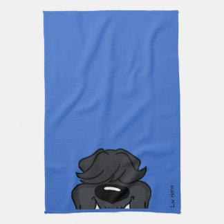 Bouvier Smile Hand Towel