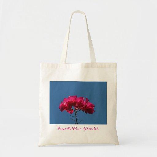 BOUW Bougainvillea Welcome Budget Tote Bag
