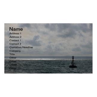 Bouy en el mar tarjeta de visita