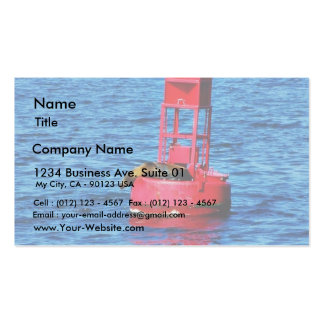 Bouy In San Diego Bay With A Seal On It Business Card Template