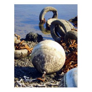 Bouys in chains postcard