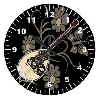 Bouzouki Large Clock