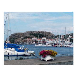 Bovallstrand harbour postcard