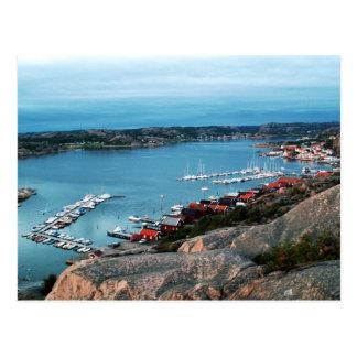 Bovallstrand harbour view postcard