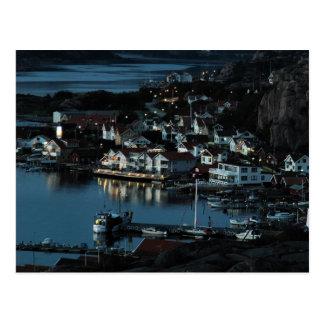 Bovallstrand, Sweden by night Postcard