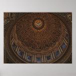 Bóveda al cielo en la basílica de San Pedro Posters