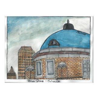 Bóveda azul (pluma y acuarela) por la pluma tarjeta postal