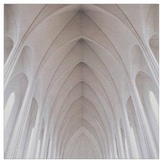 bóveda blanca del pilar del alto techo telas