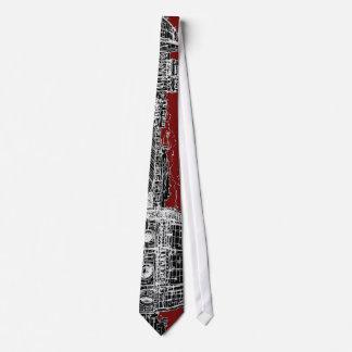 Bóveda de Florencia del rojo de vino Corbata Personalizada