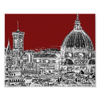Bóveda de Florencia del rojo de vino Fotografia