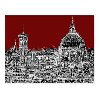 Bóveda de Florencia del rojo de vino Tarjeta Postal