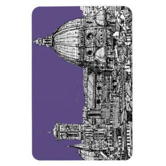 Bóveda de Florencia en lila Imán De Vinilo
