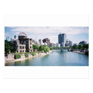 Bóveda de Genbaku para la paz y el horizonte de Tarjeta Postal