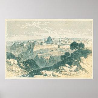 Bóveda de Jerusalén del vintage y poster del paisa