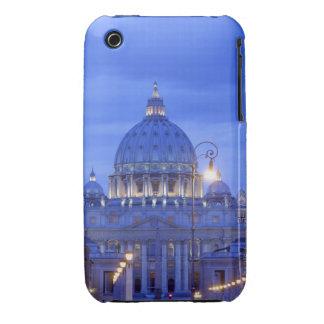 Bóveda de la basílica de San Pedro en la oscuridad iPhone 3 Case-Mate Cárcasa