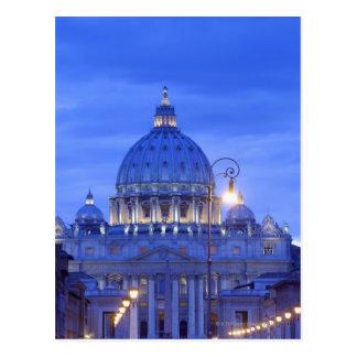 Bóveda de la basílica de San Pedro en la oscuridad Tarjetas Postales