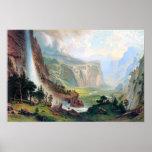 Bóveda de la Bierstadt-Mitad de Albert en Yosemite Poster
