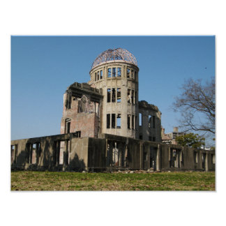 Bóveda de la bomba atómica, Hiroshima, Japón Póster