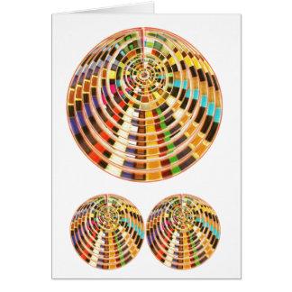 Bóveda de la energía del UFO 3D - espectro de la o Tarjeta De Felicitación