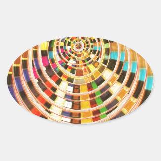 Bóveda de la energía del UFO 3D - espectro de la Pegatina Ovalada