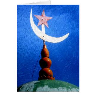 Bóveda de la mezquita del símbolo del Islam Tarjeta