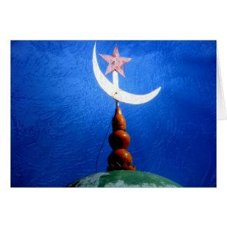 Bóveda de la mezquita del símbolo del Islam Tarjetas