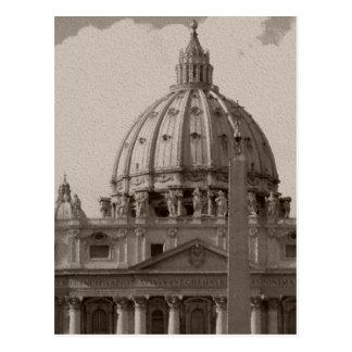 Bóveda de la postal del viaje de Roma de la