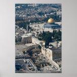 Bóveda de la roca, ciudad vieja Jerusalén, Israel Poster