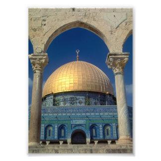 """""""Bóveda de la roca, impresión de 5x7 de Jerusalén"""" Fotografias"""