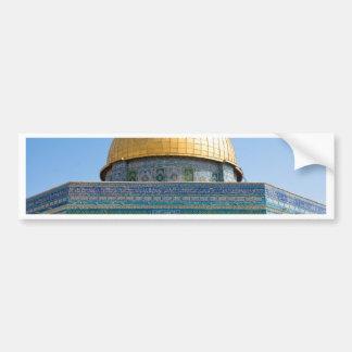 Bóveda de la roca Jerusalén Pegatina De Parachoque