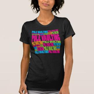 Bóveda de poste colorida camiseta