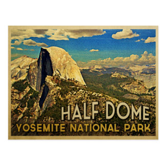 Bóveda de Yosemite del vintage media Tarjetas Postales