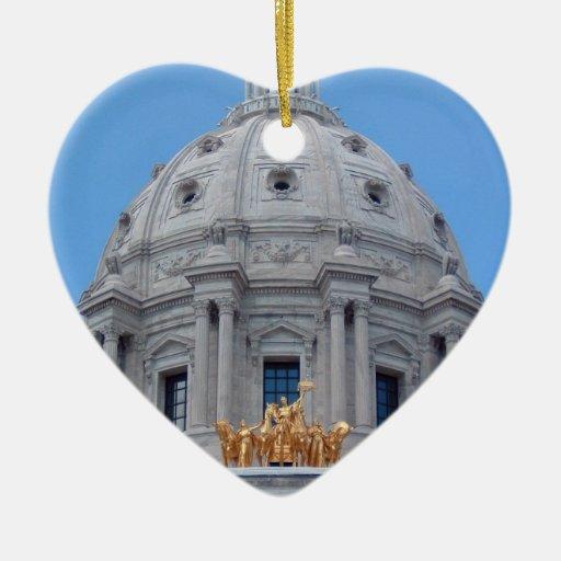 Bóveda del capitolio de Minnesota Adorno De Cerámica En Forma De Corazón
