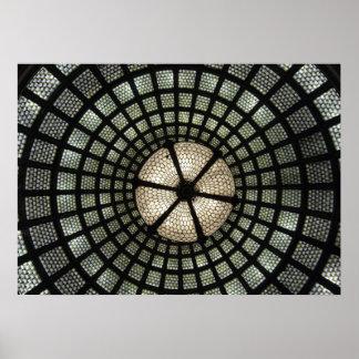 Bóveda del vidrio de Tiffany Póster