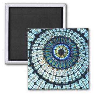 Bóveda del vitral imán cuadrado