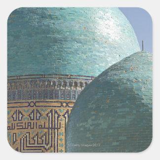 Bóvedas de la turquesa, mausoleo de Shahr i Zindah Etiqueta