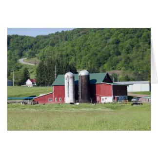 Bovina mountain farm greeting card
