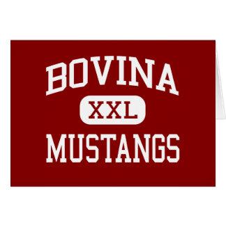 Bovina - Mustangs - High School - Bovina Texas Greeting Card