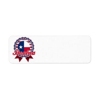 Bovina, TX Return Address Label