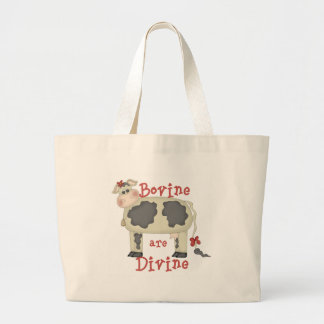Bovine Are Divine Large Tote Bag
