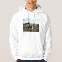 Bovine Cow on Beautiful Landscape Hoodie