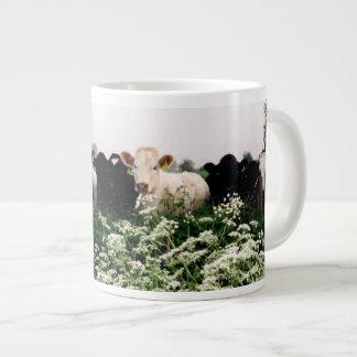 Bovines, Cows in Wiltshire England Giant Coffee Mug