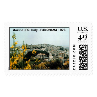 Bovino 1976 01 , Bovino (FG) Italy - PANORAMA 1976 Postage
