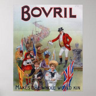Bovril Advert 1902 Poster