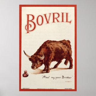 Bovril Bull, 1900 Poster