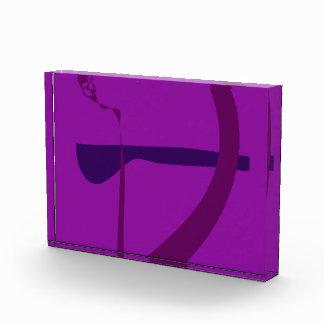 Bow and Arrow Purple Acrylic Award