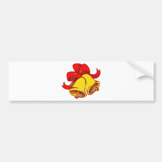 Bow And Bells Bumper Sticker