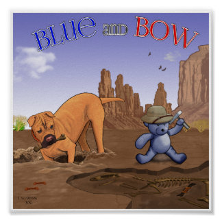 Bow and Blue Poster