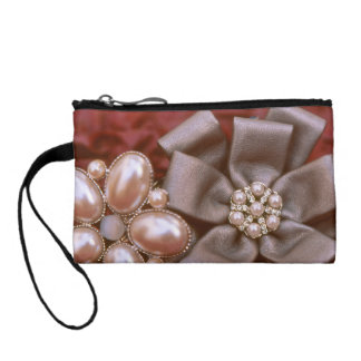 Bow and Pearls Coin Wallet