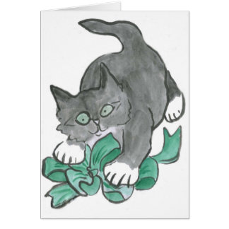Bow Attack by Gray Kitten Card